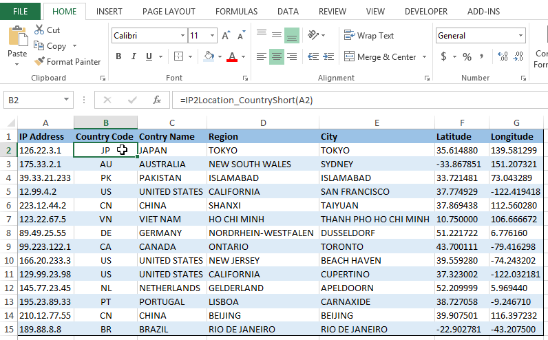 Excel Add-In | IP2Location