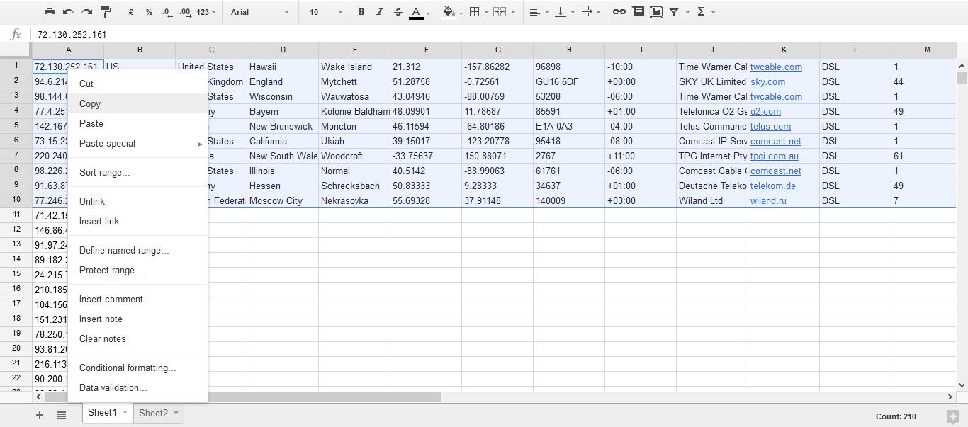 Google Sheet Add-On | IP2Location